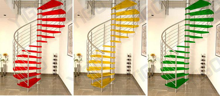 diseo de vidrio escalera fundido escalera espiral escaleras pasamanos