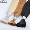 Factory Direct Wholesale Price For Blonde Silky Straight Bulk Hair Extensions