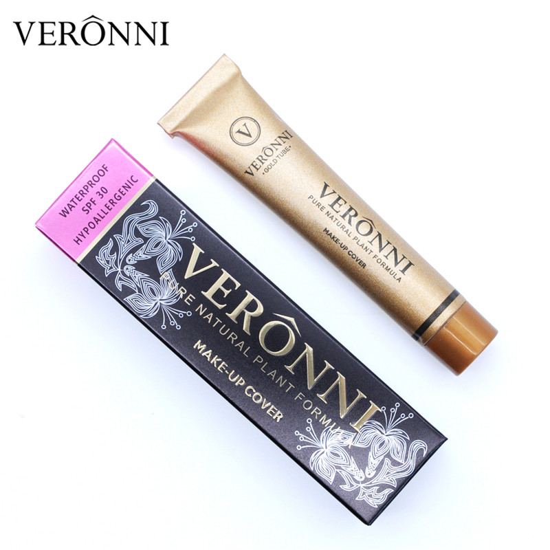 VERONNI Professionelle Make-Up Abdeckung Flüssigkeit Concealer Make-up Wasserdicht Basis Primer Tatoo Foundation Creme 14 farben