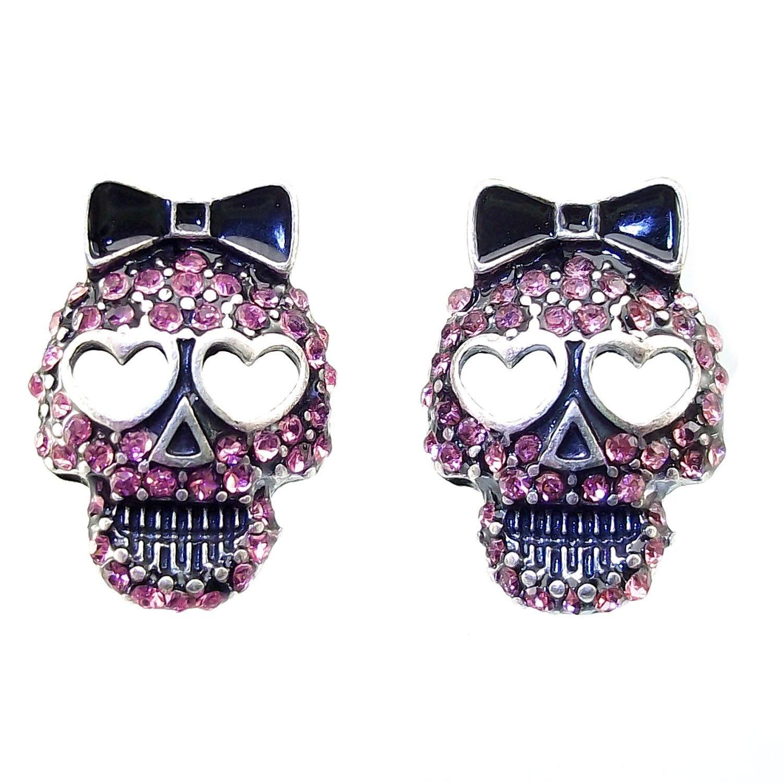 6da80465f Buy DaisyJewel Pink Crystal Skull Earrings - Top Seller Sparkle ...