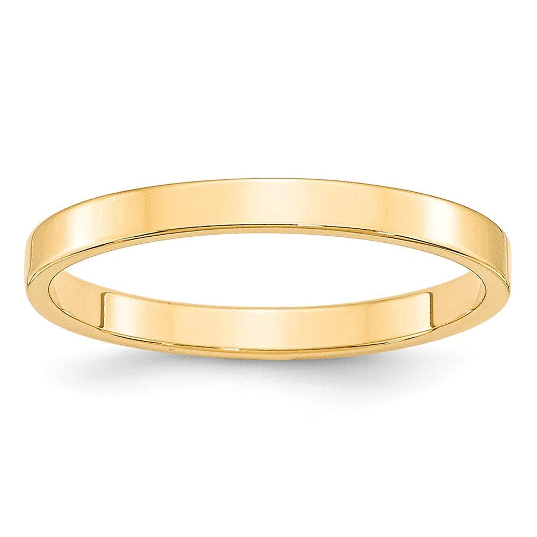 Best Designer Jewelry 14KY 2.5mm LTW Flat Band Size 12.5
