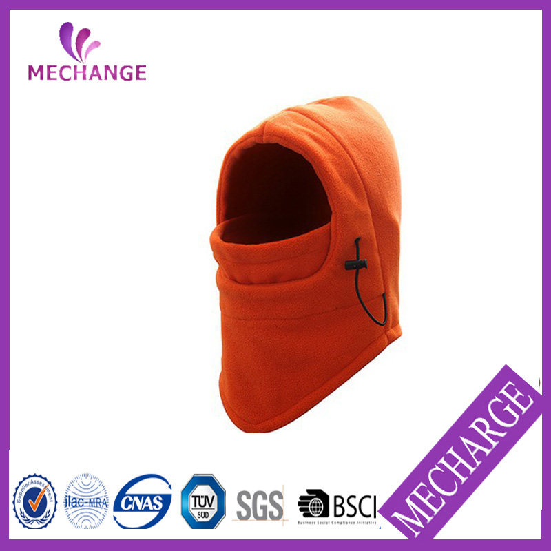 Fashion Custom Orange Color Print Fleece Balaclava Ski Mask