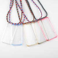 Transparent Cell Phone Case With Lanyard Necklace Shoulder Neck Strap Rope Cord for iphone 6 7 8 plus x xs xr xs max