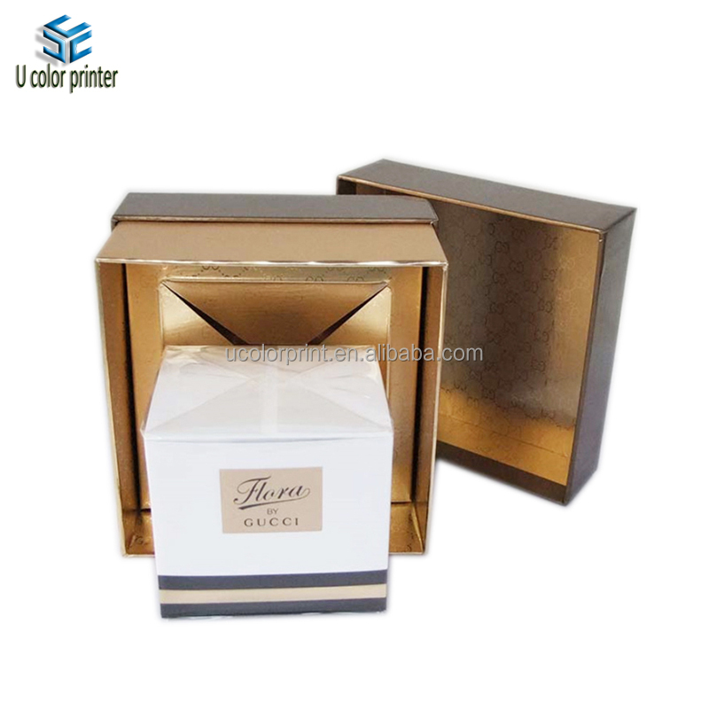 hot sale shiny texture paper and custom logo cardboard perfume box