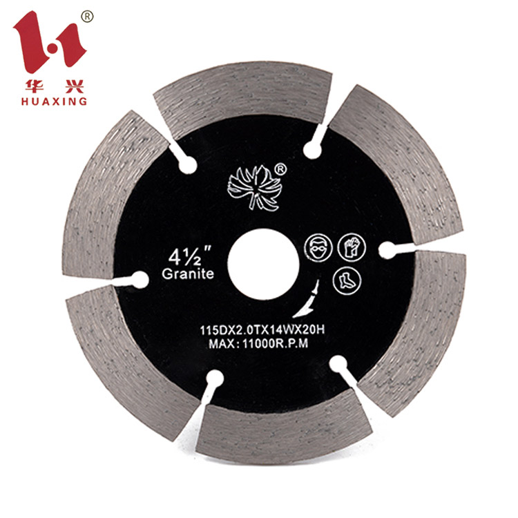 Huaxing granite concrete v shape diamond <strong>cutting</strong> saw blade