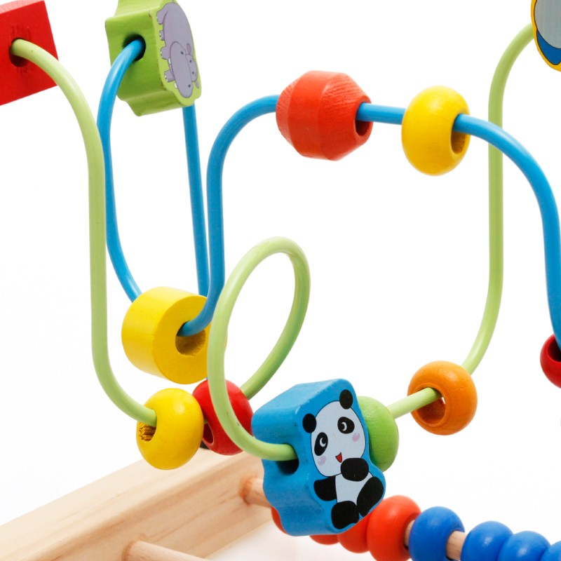 Multi farbe kind lernspielzeug Holz draht runde perle spiel mit ...