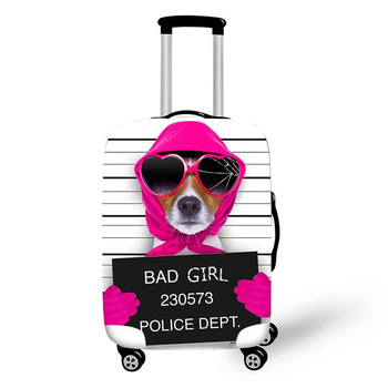 Coolost Funny Bad Guilty Dog Print Dustproof Stretch Custom Diy Spandex  Valise Luggage Cover - Buy High Elastic Waterproof Neoprene Suitcase