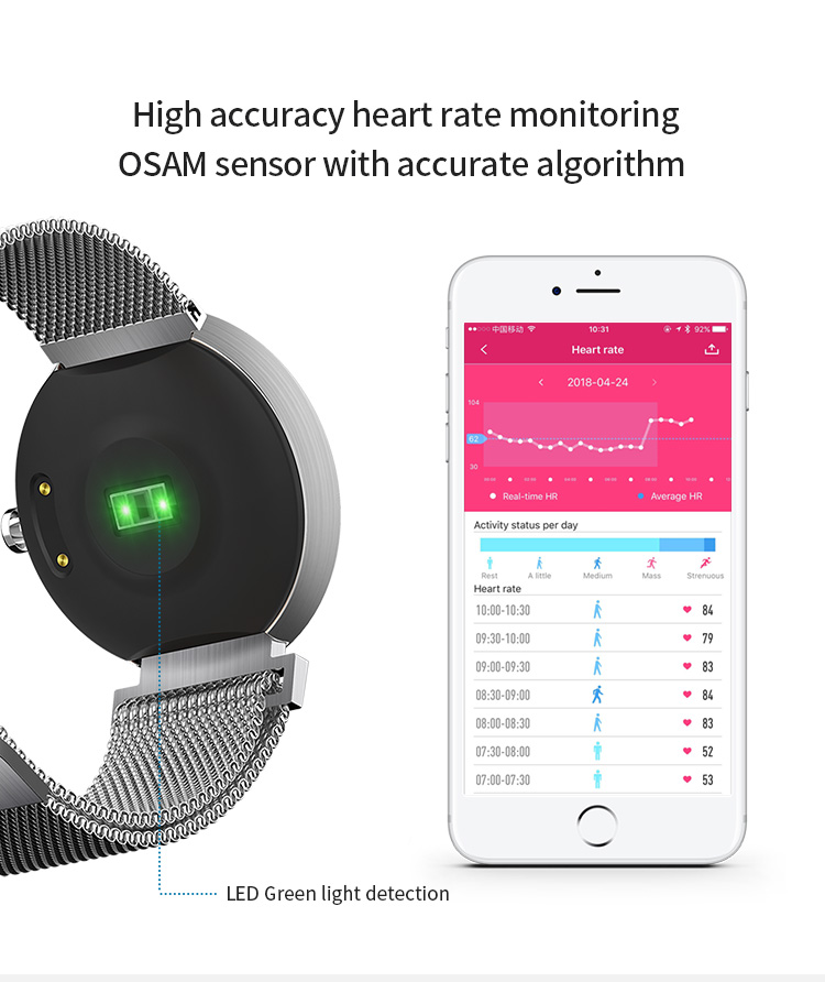 smart bracelet fitness tracker activity tracker with heart rate