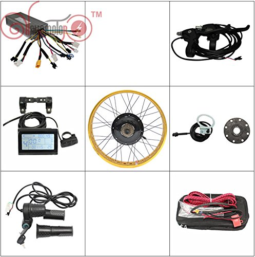 """Ebike Kit 72V 1500W Fat Tire Electric Bicycle Conversion Kits LCD Display 20"""" 24"""" 26'' Front or Rear Motorized Wheel"""