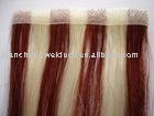 skin weft human hair extensions side by side colour