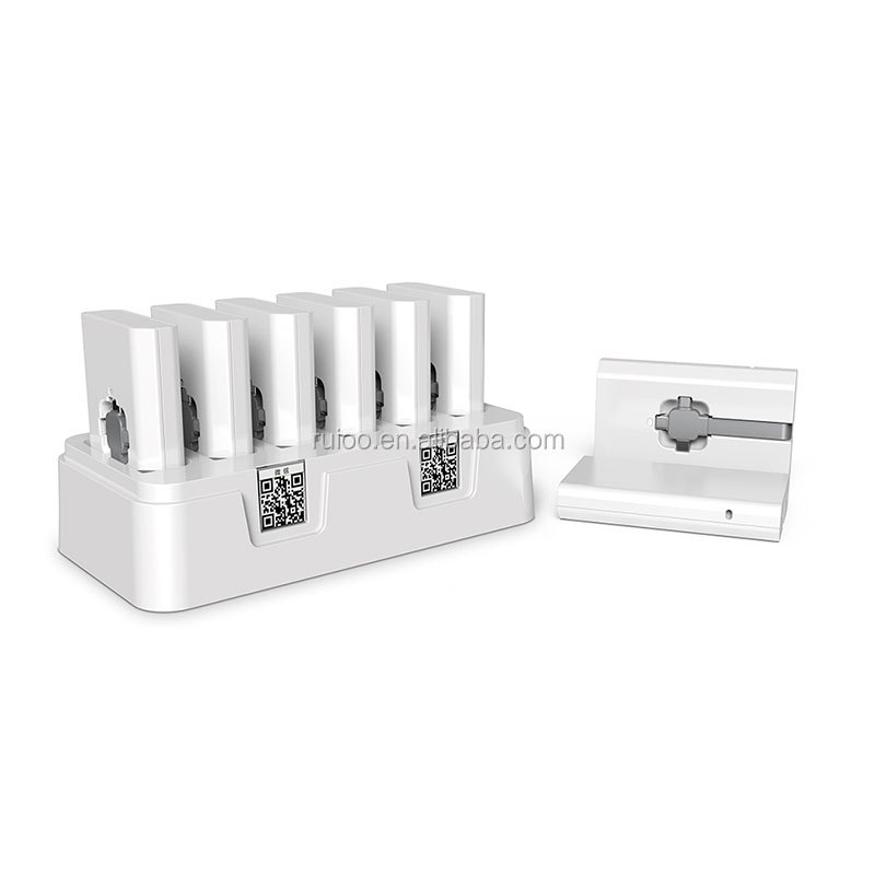 Portable 6 pcs shared mobile power bank charger price shared function mobile charging station for restaurant wine bar