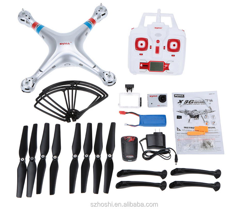 Professionale quadcopter Syma X8G 2.4G 6 Axis Gyro 4CH RC Quadrocopter modalità Headless Drone con Fotocamera 8MP RC