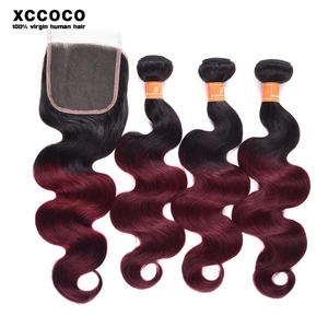 Promotion Wholesale 10-24 Inch Body Wave Unprocessed 100 Pure Virgin Peruvian Two Tone Color Remy Human Hair