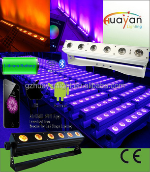 Mobile phone control led wireless dmx led wash wall lightwireless 6 mobile phone control led wireless dmx led wash wall lightwireless 6 in 1 rgbwa aloadofball Images