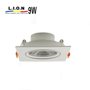 New style 12v aluminum tiltable integrated 9w led downlight for bathroom