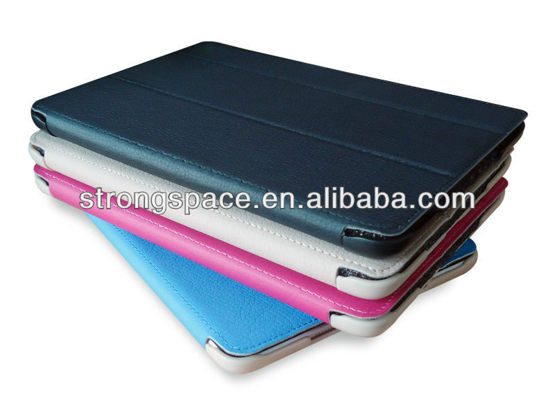 Sleep awake leather flip cover for ipad mini retina case with folding stand function
