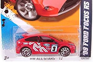 Hot Wheels - HW All Stars '12 - '09 Ford Focus RS - 9/10 , 129/247 [Scale 1:64]