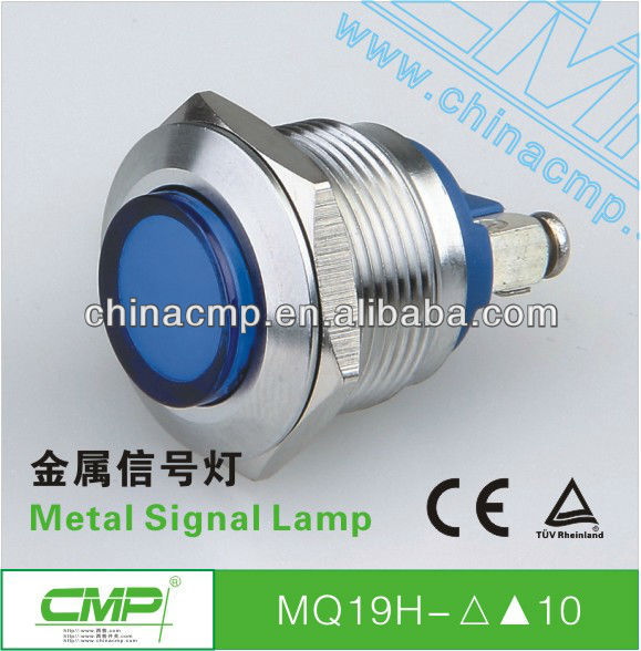 Mounting diameter 19mm waterproof stainless steel signal indicator light ip67