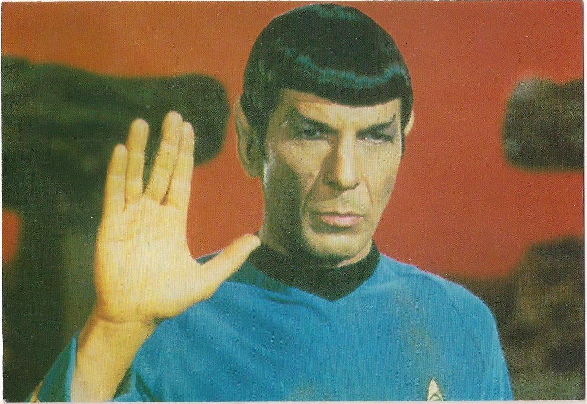 Star Trek Origonal Series Mr. Spock Live Long and Prosper Post Card