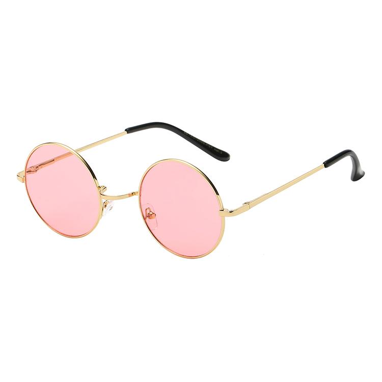 afe167eb1 Rodada do vintage óculos de Sol Mulheres Lente Espelho óculos de Sol de  Design Da Marca
