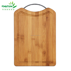 Kitchen tools rectangular bamboo cutting board with drain groove