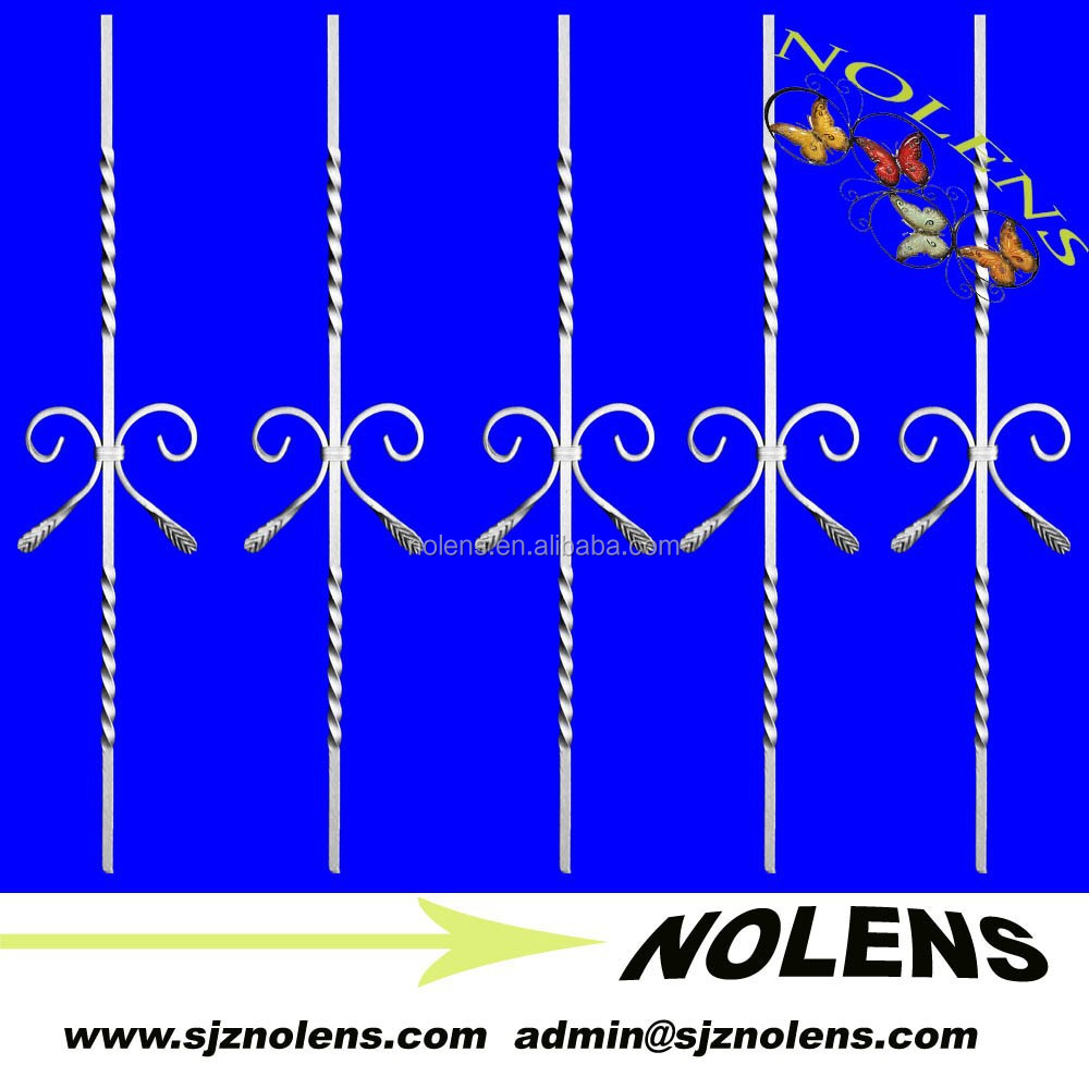 Hammered Wrought Iron Bars For Windows