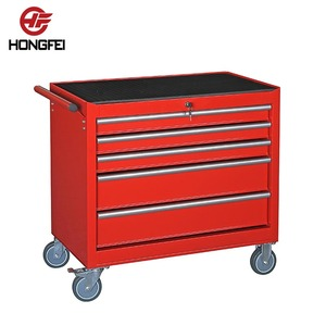 Superior high gloss red powder coating finish cheap cold steel tool cart