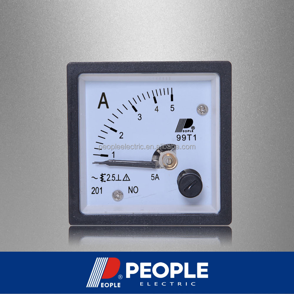 PEOPLE 99T1-A 5A 48mm*48mmAnalog panel meter AC Ammeter, ampere meter, current meter