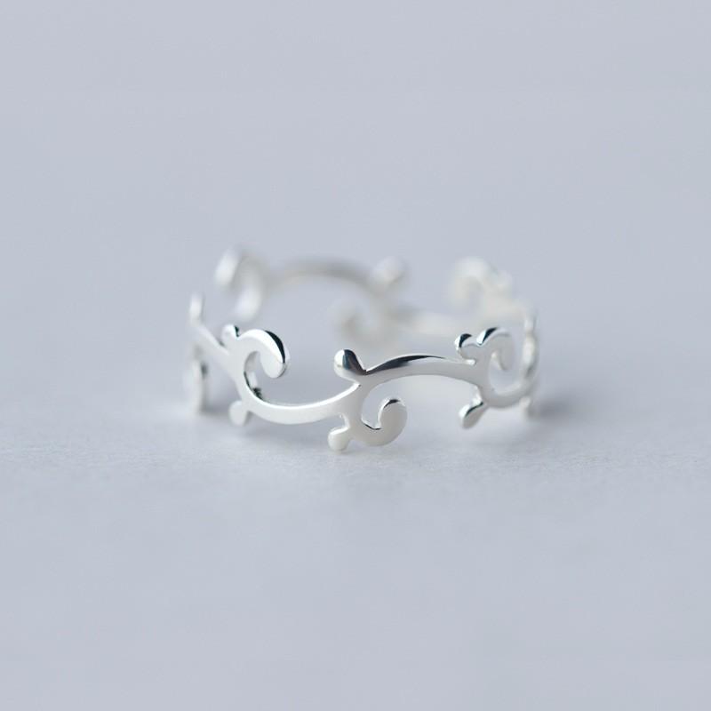 1d8588195c978d SJJ663 Semplice Jewelry Design 925 Sterling Silver Women Filigrana senza  Pietra Liscia Aperto Onda Anello