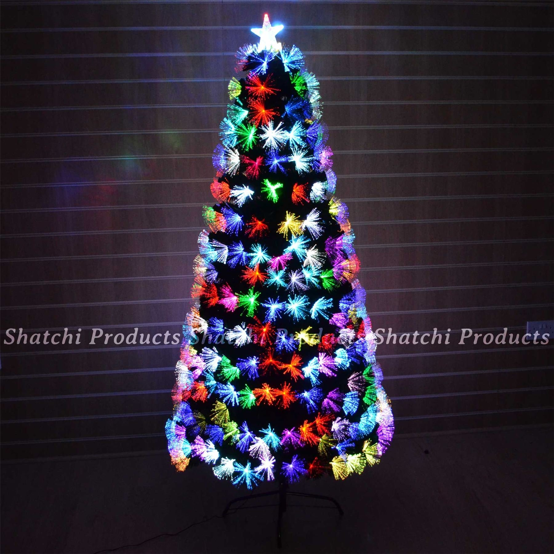 get quotations 4ft 120cm fibre optic christmas tree multi colour changing with various effects xmas decoration