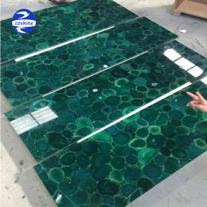 Natural customization green agate marble tiles onyx stone price