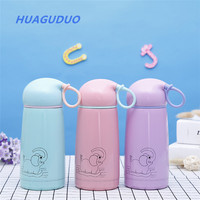 France market Promotional gifts candy color cute stainless steel drinkware kids baby use 360 ml water cups glass water bottle