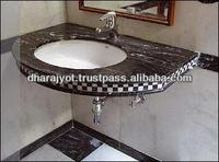 Indian White Marble Oval Shape Vanity Counter Top Bathroom Washbasin