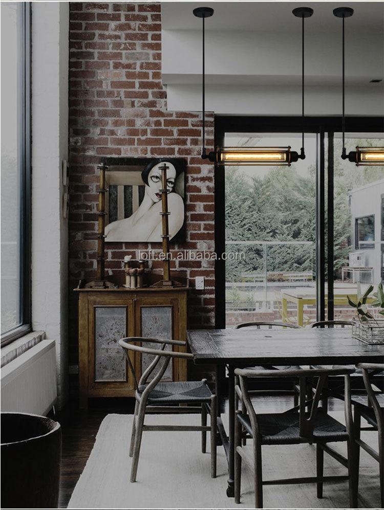 industrial transverse long cylindrical vintage industrial lighting restaurant pendant lighting edison style light bulbs