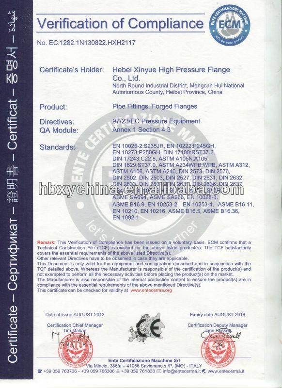UNI2254-67 PN16 BSPT THREAD FLANGE WITH COLLAR