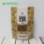 Custom printed kraft paper stand up pouches/stand up white kraft paper bag with window and zipper