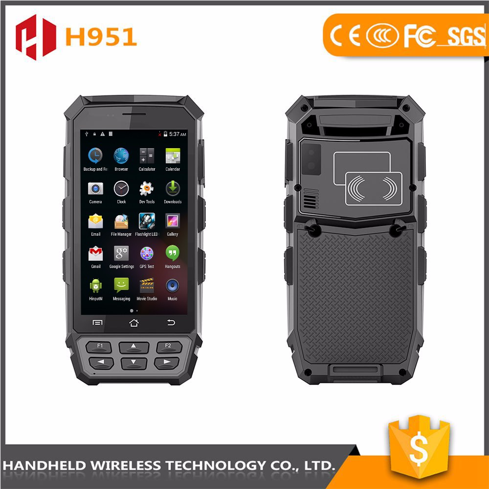Wholesale wireless 5inch hanaheld rugged ip65 android 4.4.2 qr barcode pda scanner