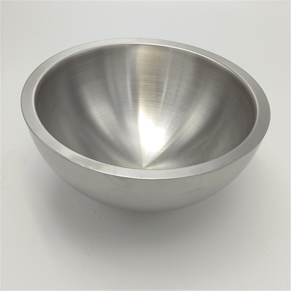 New design stainless steel fruit salad bowl metal bowls
