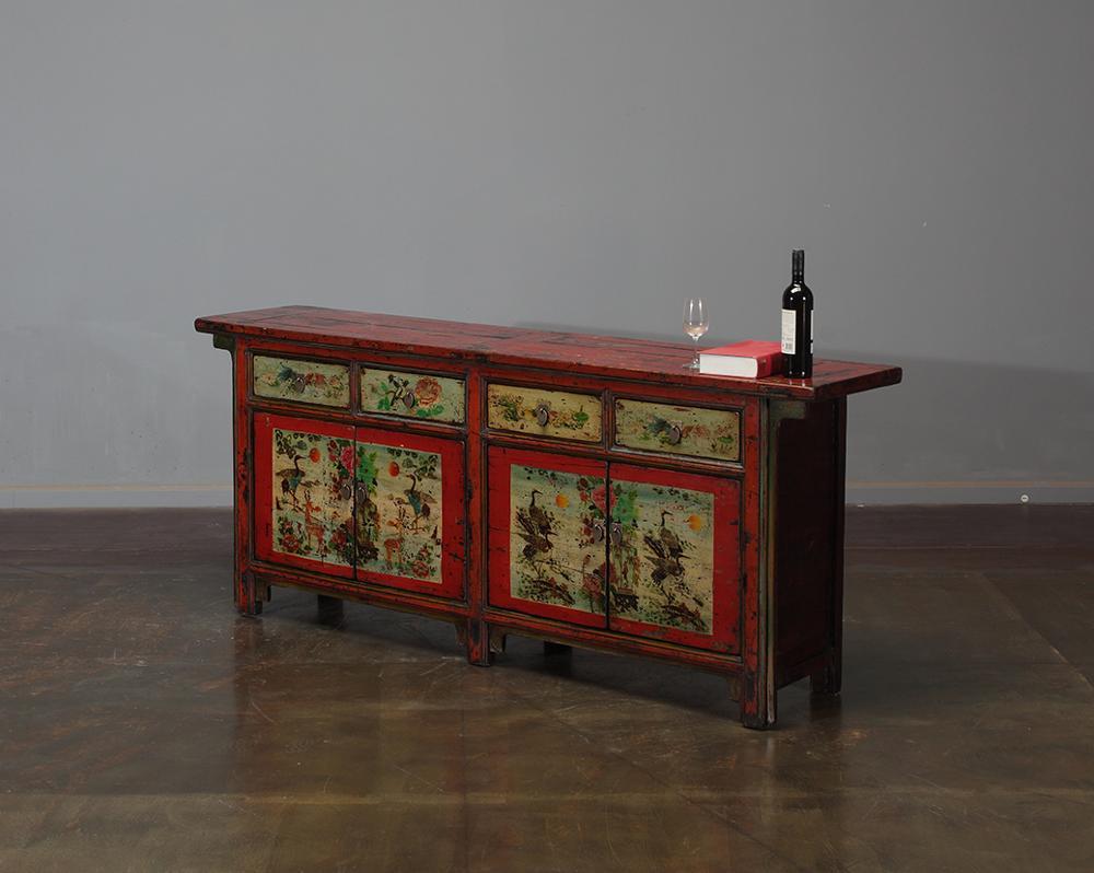 Cina vintage dipulihkan furniture tangan dicat kabinet dekorasi vintage furniture