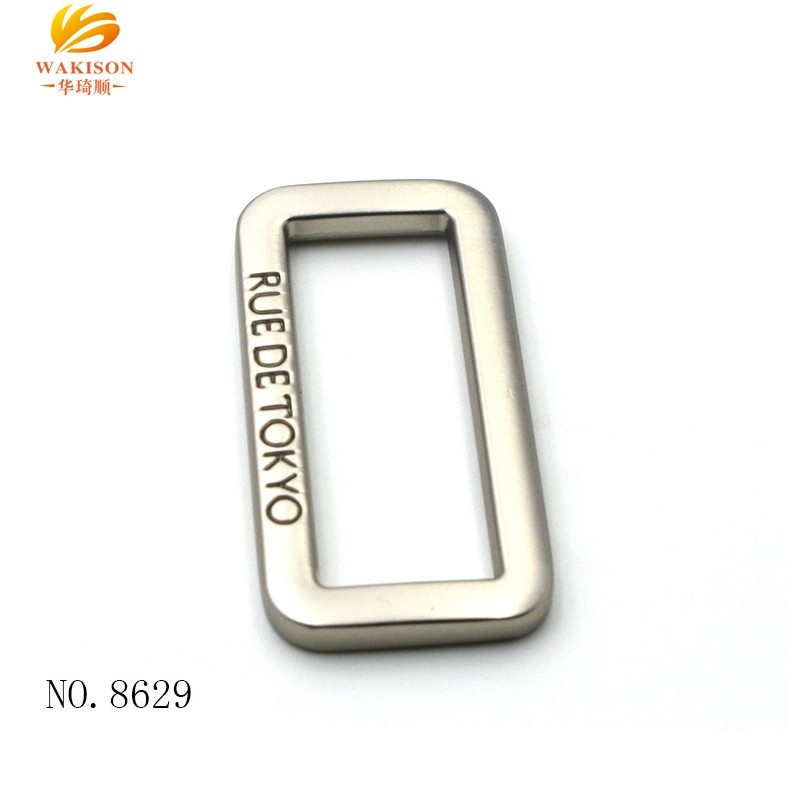 handbag luggage metal square  buckle with logo