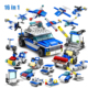 KAZI 305pcs 16in1 Police Helicopter car Building Blocks Compatible Legoed City Construction Bricks Toys For children brinquedos