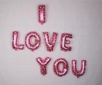 Wholesale Helium Balloon Birthday Party Decoration 16 Inch Pink Blue Letter Foil