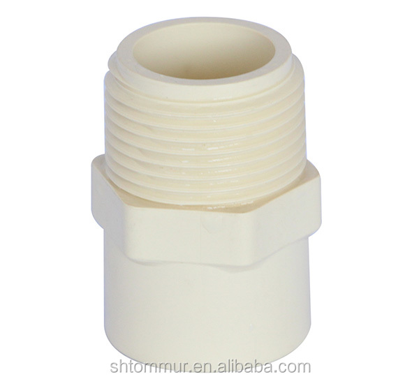 China manufacture ASTM D2846 ivory cpvc pipe fittings for water supply male adaptor