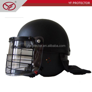 High Quality Riot Helmet With Metal Frame Visor/Self Defense Equipment