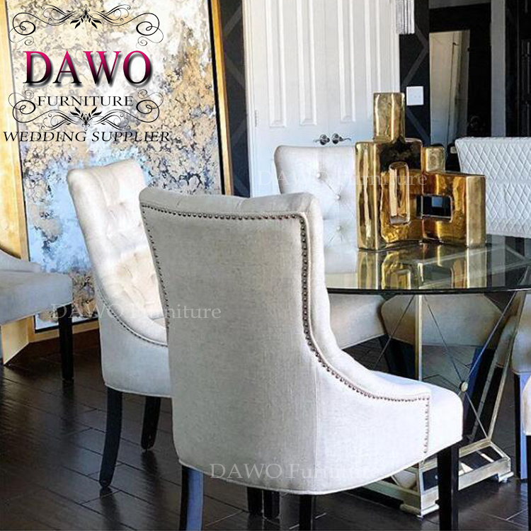 Solid oak wood furniture dining chairs with the french style china