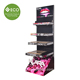 Four Tires High Quality Cardboard Cosmetic Floor Display Stand For Lipsticks