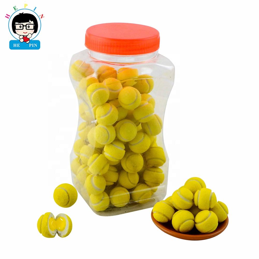 Newest !!! Hepin Food Wholesale Tennis Shape Bubble Gum
