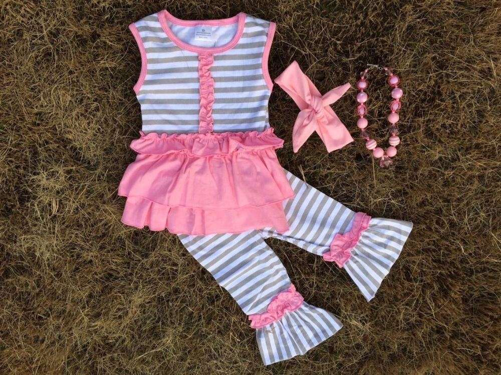 baby girls ruffled capris sets ruffle outifts, little girls boutique remake clothing sets,girls clothes for persnickety remake