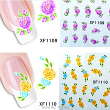 20pcs Opp pack nail art water transfer sticker diy nail stickers gel polish capsule ongle colla