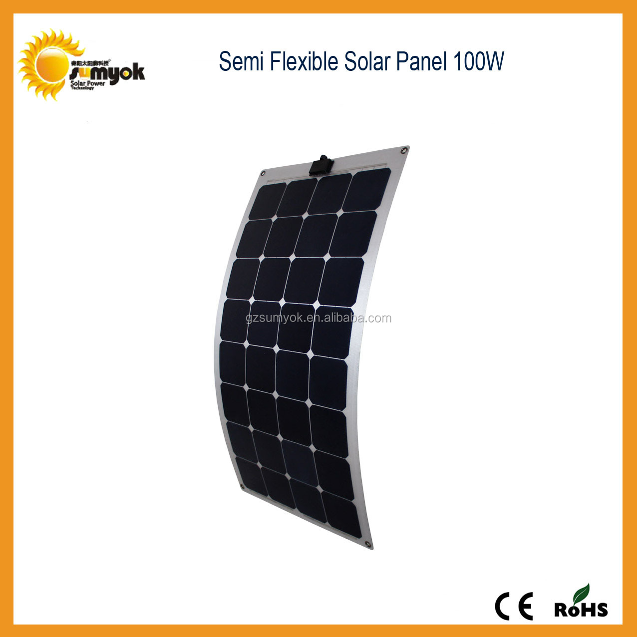 100w waterproof flexible solar panel china ,perfect to use on yachat ,car,boat,snow mobile,golf-cart..etc